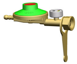 Gas regulator with spanner